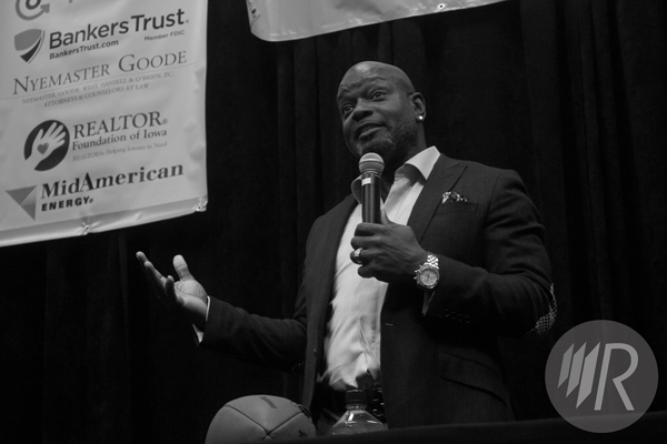 Emmitt Smith in West Des Moines, Iowa.